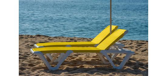 """Kunststoff-Bäderliege """"Eva Pro"""" Gelb"""