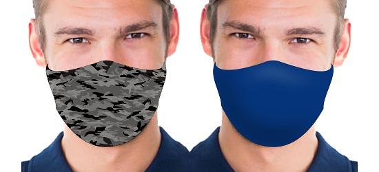 Set Gesichts- und Alltagsmasken Herren