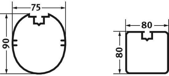 Sicherheits-Verankerungs-System 80x80 mm