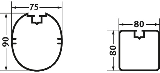 Sport-Thieme® Alu-Kleinfeldtore 3x2 m, Quadratprofil, frei stehend oder in Bodenhülsen Frei stehend