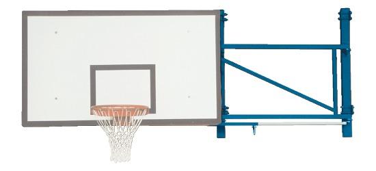 Sport-Thieme® Basketball-Wandgerüst schwenkbar Ausladung 170 cm, Betonwand
