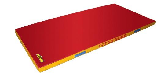"Sport-Thieme® Geräte-Turnmatte ""GTM 3000"" 200x100x6 cm, 17 kg, Rot"
