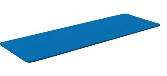 """Sport-Thieme Gymnastikmatte  """"Basic 15"""" Ohne Ösen, Blau"""
