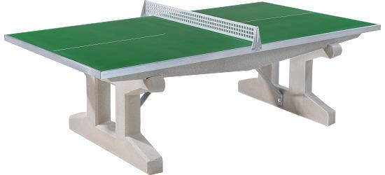 """Sport-Thieme® Polymerbeton-Tischtennisplatte """"Premium"""" Grün, Kurzer Fuß, freistehend"""