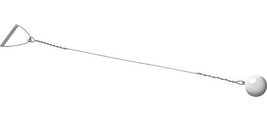 Sport-Thieme Wettkampf-Wurfhammer 4 kg, Weiß, ø 102 mm