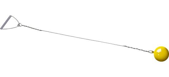 Sport-Thieme Wettkampf-Wurfhammer 5 kg, Gelb, ø 115 mm
