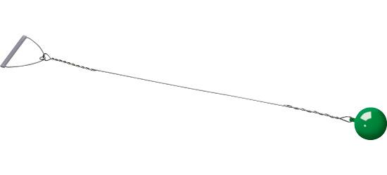 Sport-Thieme Wettkampf-Wurfhammer 6 kg, Rot, ø 115 mm