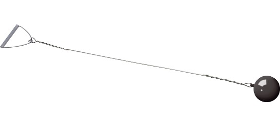 Sport-Thieme Wettkampf-Wurfhammer 7,26 kg, Schwarz, ø 120 mm