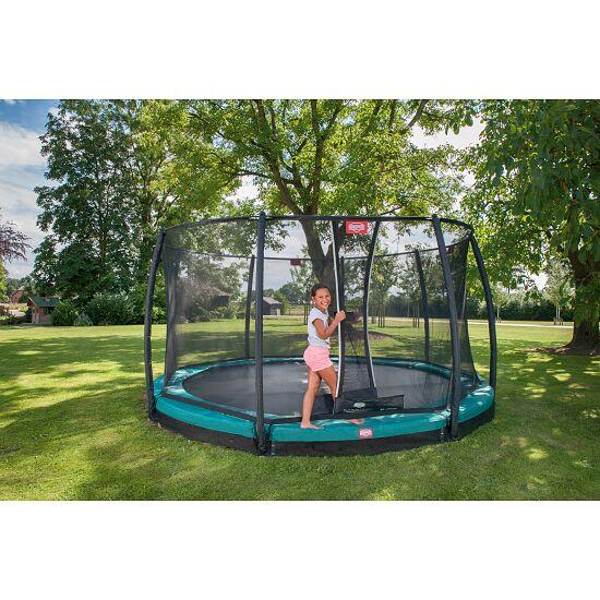 berg trampolin inground champion mit sicherheitsnetz. Black Bedroom Furniture Sets. Home Design Ideas