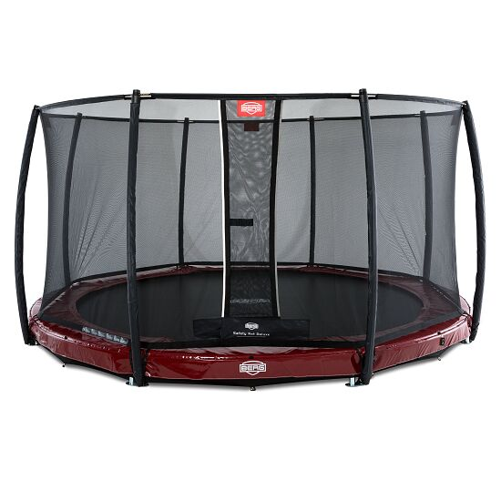 "BERG® Trampolin InGround ""Elite"" mit Sicherheitsnetz ""Deluxe"" Rot, ø 330 cm"