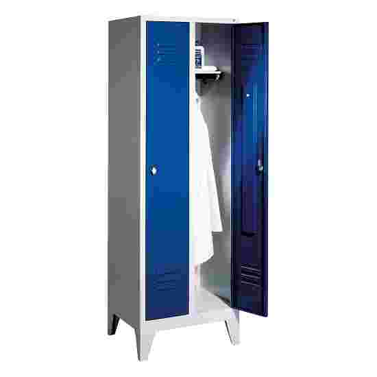 """C+P Garderobenschrank """"S 2000 Classic"""" mit 150 mm hohen Füßen 185x61x50 cm/ 2 Abteile, 30 cm"""