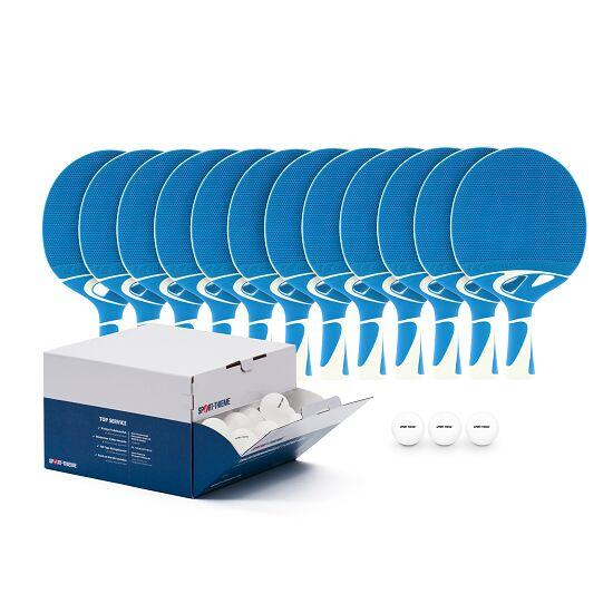 """Cornilleau Tischtennisschläger-Set """"Tacteo 30 Outdoor"""" Bälle Weiß"""