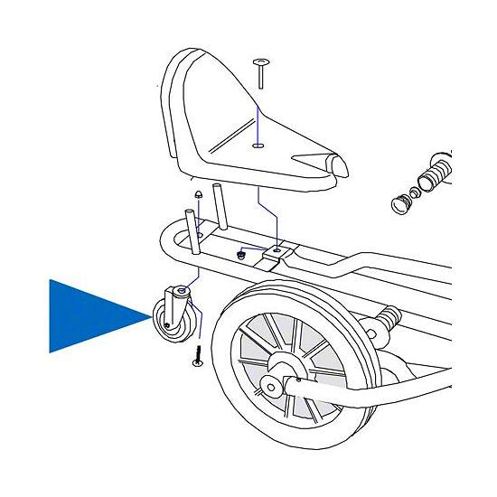 Hinterrad / Stützrad für Swingcart