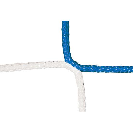 Knotenloses Herrenfußball-Tornetz mit Schachbrettmuster Blau-Weiß