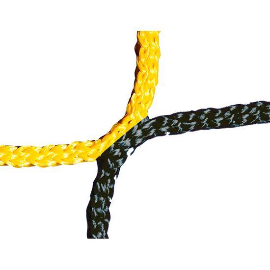 Knotenloses Herrenfußballtornetz 750x250 cm Schwarz-Gelb