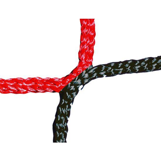 Knotenloses Herrenfußballtornetz 750x250 cm Schwarz-Rot