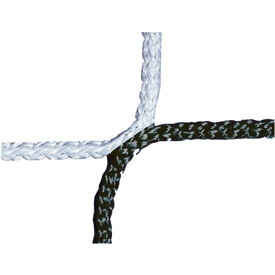 Knotenloses Herrenfußballtornetz 750x250 cm Schwarz-Weiß
