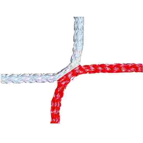 Knotenloses Herrenfußballtornetz Rot-Weiß