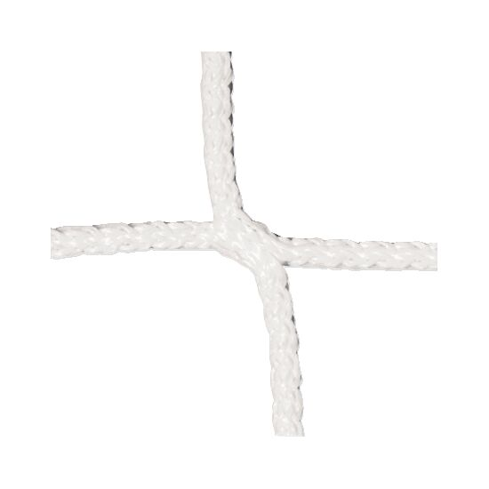 Knotenloses Herrenfußballtornetz Weiß