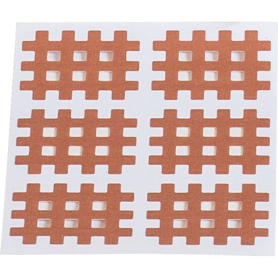 "KS-Medical KS Gittertape ""Cross-Patches"" 120 Pflaster 36x28 mm, Beige"