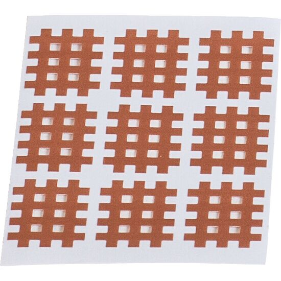 "KS-Medical KS Gittertape ""Cross-Patches"" 40 Pflaster 52x44 mm, Beige"