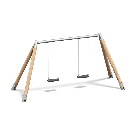 Playparc Doppelschaukel Holz/Metall Aufhängehöhe 260 cm