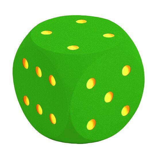 Riesenwürfel aus Schaumstoff Grün, 30 cm