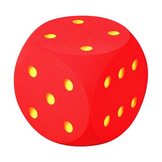 Riesenwürfel aus Schaumstoff Rot, 30 cm