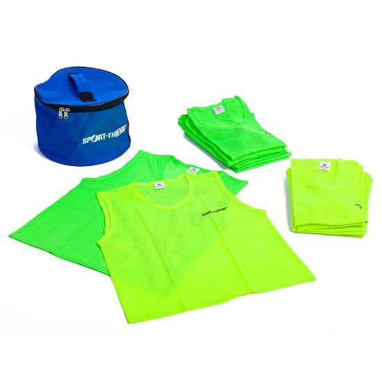 Set Mannschaftswesten Kinder, Gelb/Grün