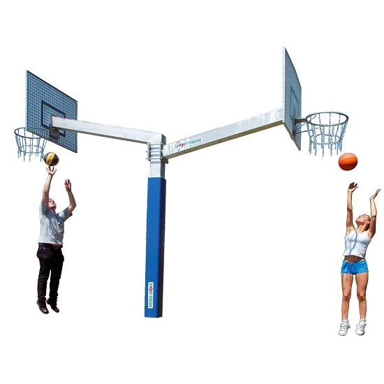 "Sport-Thieme® Basketballanlage ""Fair Play Duo"" Korb ""Outdoor"", Zielbrett: Aluminium"