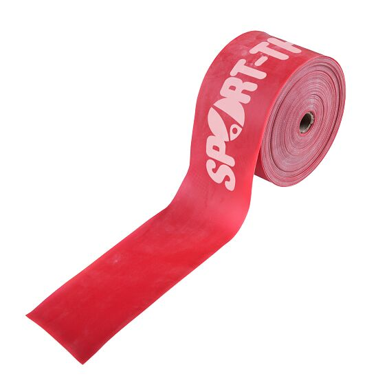 Sport-Thieme Fitnessband 75 25 m x 7,5 cm, Rot = extra stark