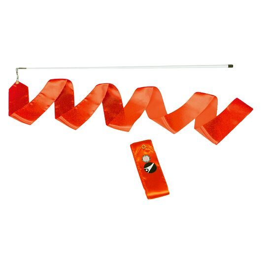 Sport-Thieme® Gymnastik-Wettkampf-Band mit Stab Wettkampf, Länge 6 m, Orange