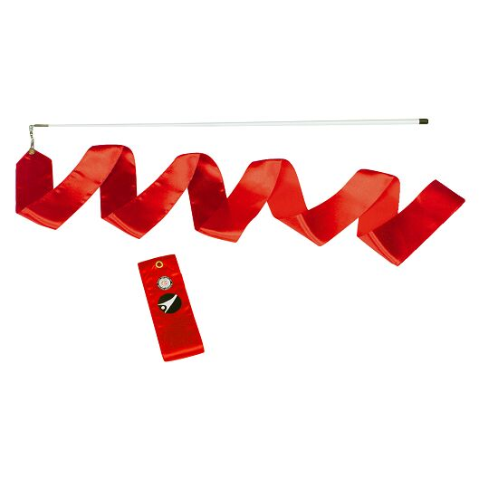 Sport-Thieme® Gymnastik-Wettkampf-Band mit Stab Wettkampf, Länge 6 m, Rot