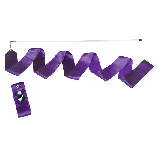 Sport-Thieme® Gymnastik-Wettkampf-Band mit Stab Wettkampf, Länge 6 m, Violett