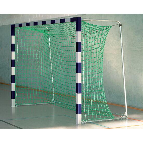 Sport-Thieme Hallenfußballtor 3x2 m, in Bodenhülsen stehend mit Eckverbindung Mit anklappbaren Netzbügeln, Blau-Silber