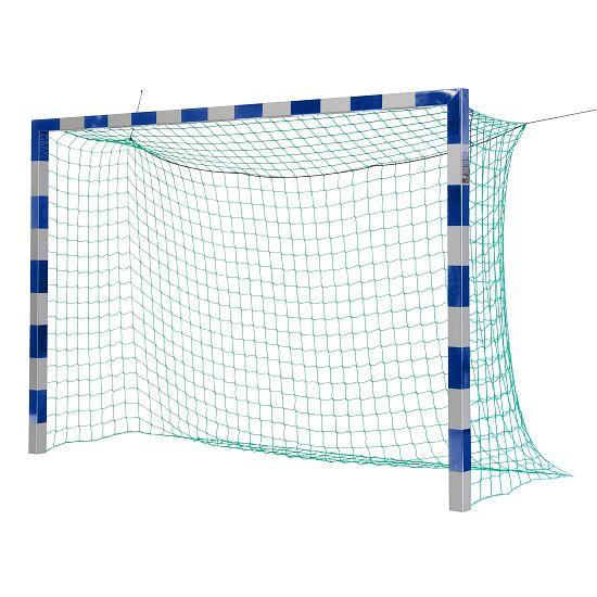 Sport-Thieme Hallenfußballtor 3x2 m, in Bodenhülsen stehend mit Eckverbindung Ohne Netzbügel, Blau-Silber