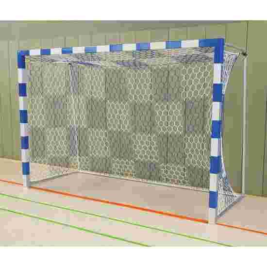 Sport-Thieme Hallenhandballtor  3x2 m, frei stehend mit feststehenden Netzbügeln Verschraubte Eckverbindungen, Blau-Silber