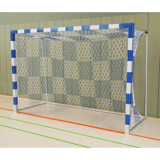 Sport-Thieme Hallenhandballtor  3x2 m, frei stehend mit feststehenden Netzbügeln Verschweißte Eckverbindungen, Blau-Silber