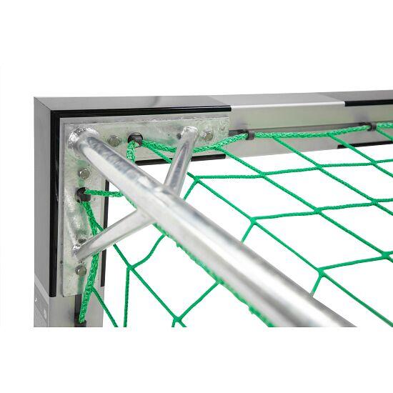 Sport-Thieme Hallenhandballtor  3x2 m, frei stehend mit patentierter Eckverbindung Mit feststehenden Netzbügeln, Schwarz-Silber