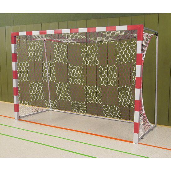 Sport-Thieme® Hallenhandballtor 3x2 m, frei stehend Verschraubte Eckverbindungen, Rot-Silber