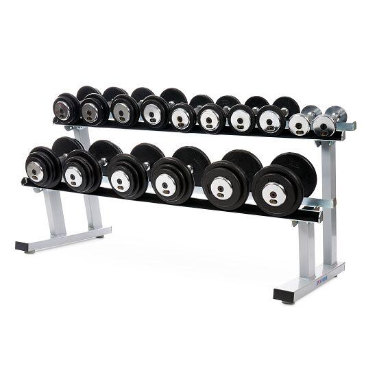 Sport-Thieme Kompakthantel Set 2,5-22,5 kg, inkl. doppeltem Hantelablageständer