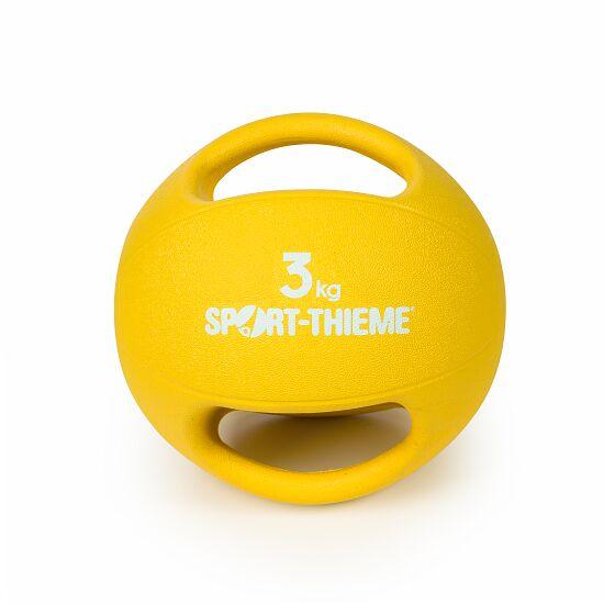 Sport-Thieme Medizinball  mit Griff 3 kg, Gelb