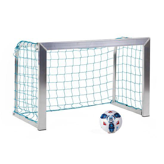 Sport-Thieme Mini-Trainingstor mit anklappbaren Netzbügeln 1,20x0,80 m, Tortiefe 0,70 m, Inkl. Netz, blau (MW 10 cm)