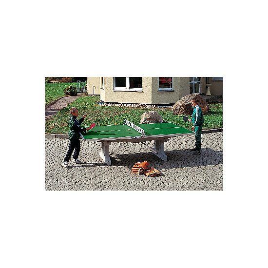 """Sport-Thieme Polymerbeton-Tischtennistisch """"Premium"""" Grün, Kurzer Fuß, freistehend"""
