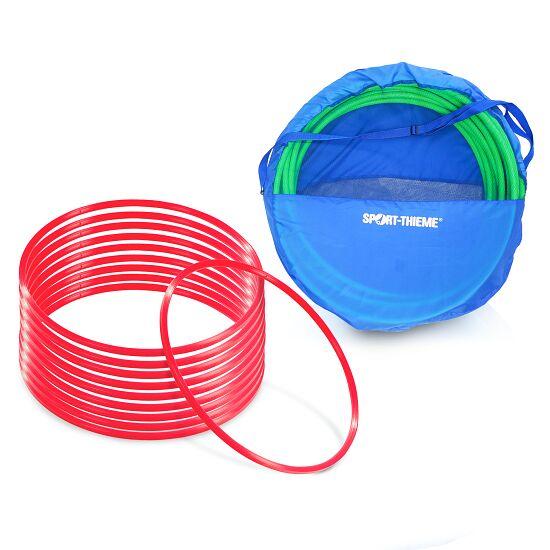 Sport-Thieme Set Gymnastikreifen ø 50 cm plus Aufbewahrungstasche Rot