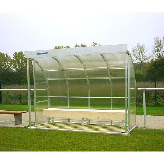 Sport-Thieme Spielerkabine für 6 Personen Verglasung: Polycarbonat, Sitzbank