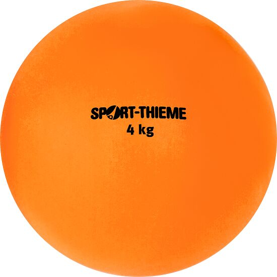 Sport-Thieme Stoßkugel aus Kunststoff 4 kg, Orange, ø 134 mm