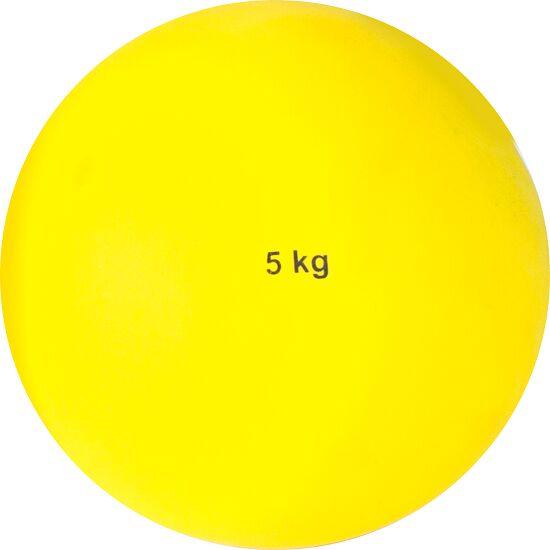 Sport-Thieme Stoßkugel aus Kunststoff 5 kg, Gelb ø 135 mm