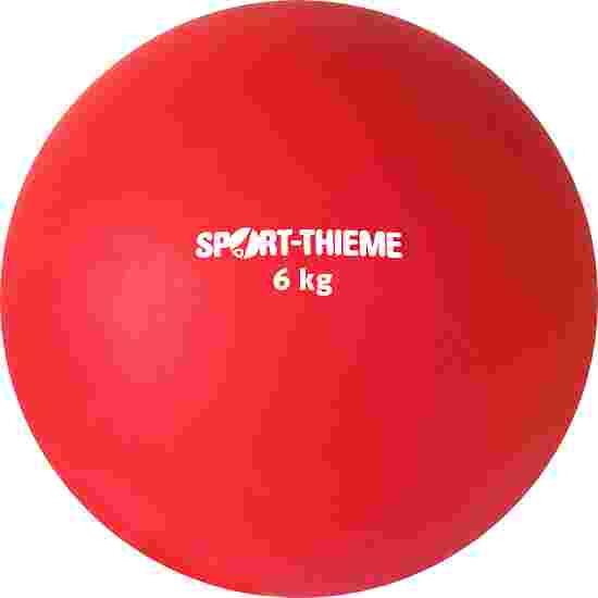 Sport-Thieme Stoßkugel aus Kunststoff 6 kg, Rot ø 140 mm