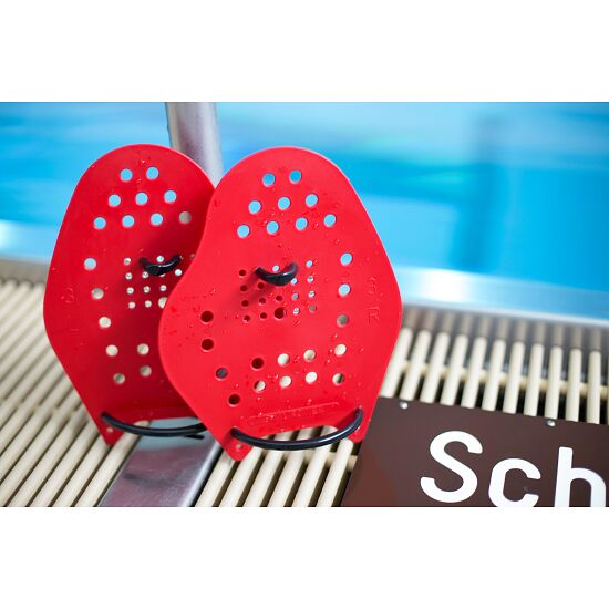 Sport-Thieme Swim-Power Paddles Größe L, 23x19 cm, Rot